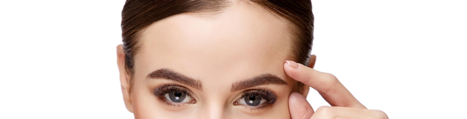 female forehead
