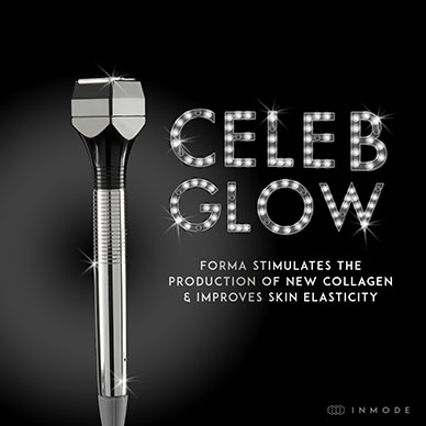 Celeb Glow - Forma stimulates the production of new collagen & improves skin elasticity