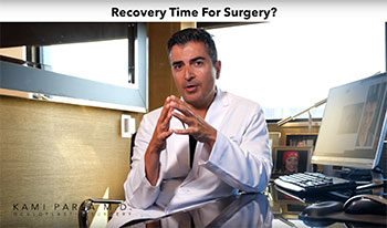 What is the Recovery time for Blepharoplasty or Eyelid Surgery?