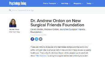 Dr. Andrew Ordon on New Surgical Friends Foundation Beverly Hills, CA
